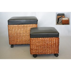 Felisa 2 Piece Storage Ottoman Set by Bayou ..