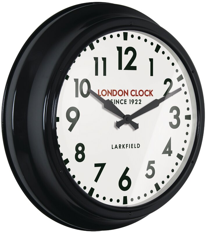 london clock company wanduhr station controller 56 cm bewertungen. Black Bedroom Furniture Sets. Home Design Ideas