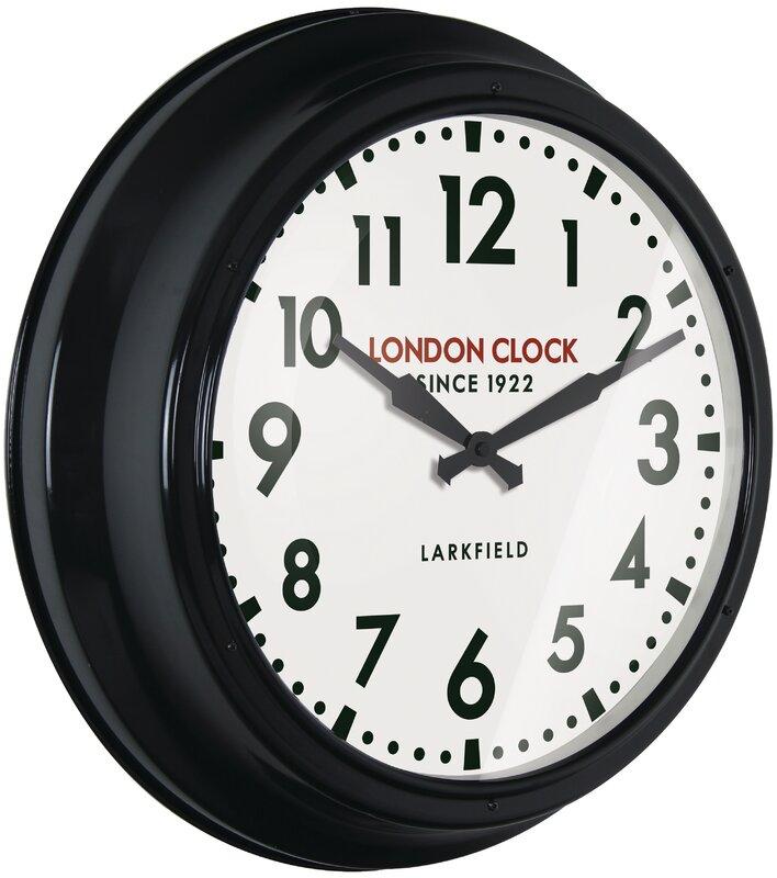 london clock company wanduhr station controller 56 cm bewertungen. Black Bedroom Furniture Sets. Home Design Ideas