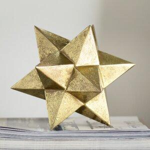 Brilliant Metallic Star Sculpture