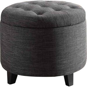 Michigan Solid Ottoman by Alcott Hill