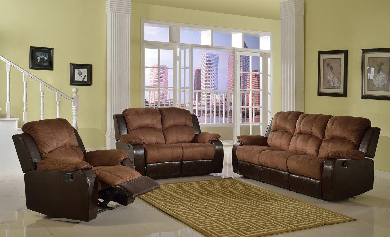 Beverly Fine Furniture Pamela Microsuede Reclining Sofa & Reviews ...