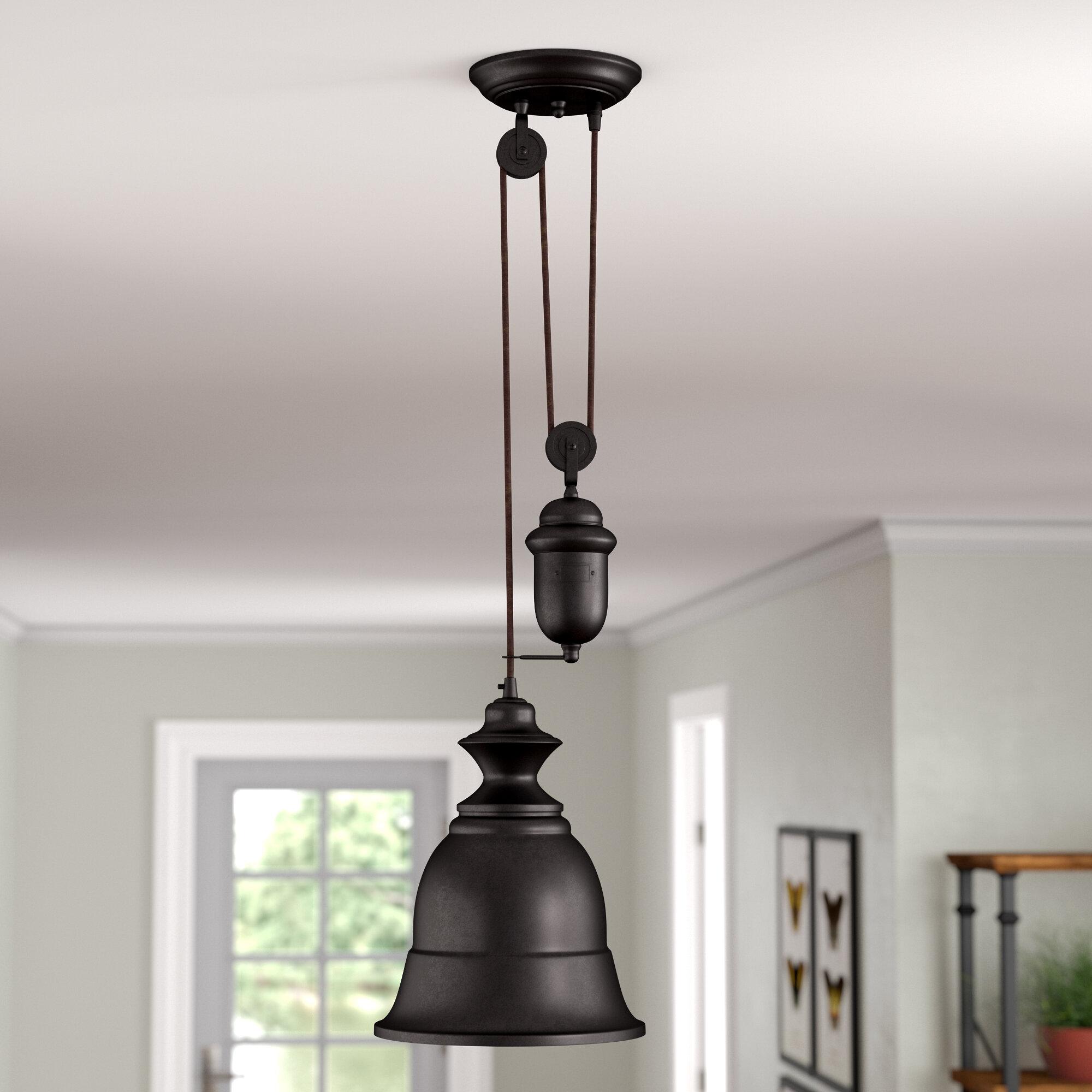 August Grove Elsenborn 1-Light Bell Pendant & Reviews | Wayfair