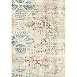 Prism Ivory/Blue/Red Area Rug
