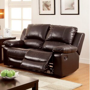 Luria Leather Reclining Loveseat by Hokku Designs