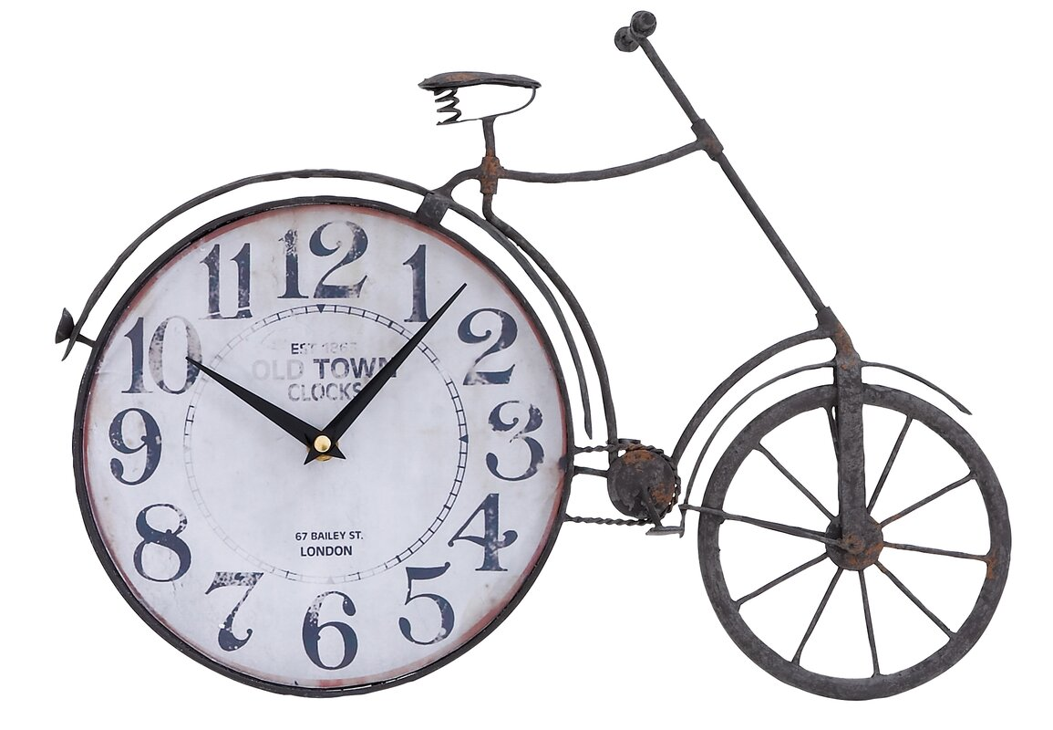 Am americana country wall clocks - Old Town Bicycle Wall Clock
