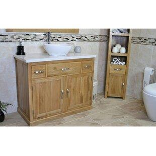 Maximilian Solid Oak 1000mm Free-Standing Vanity Unit by Belfry Bathroom