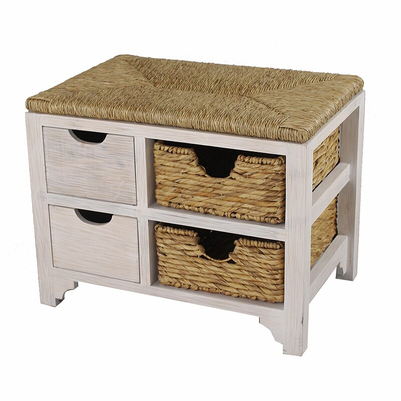 Heather Ann Wood Storage Bench Amp Reviews Wayfair