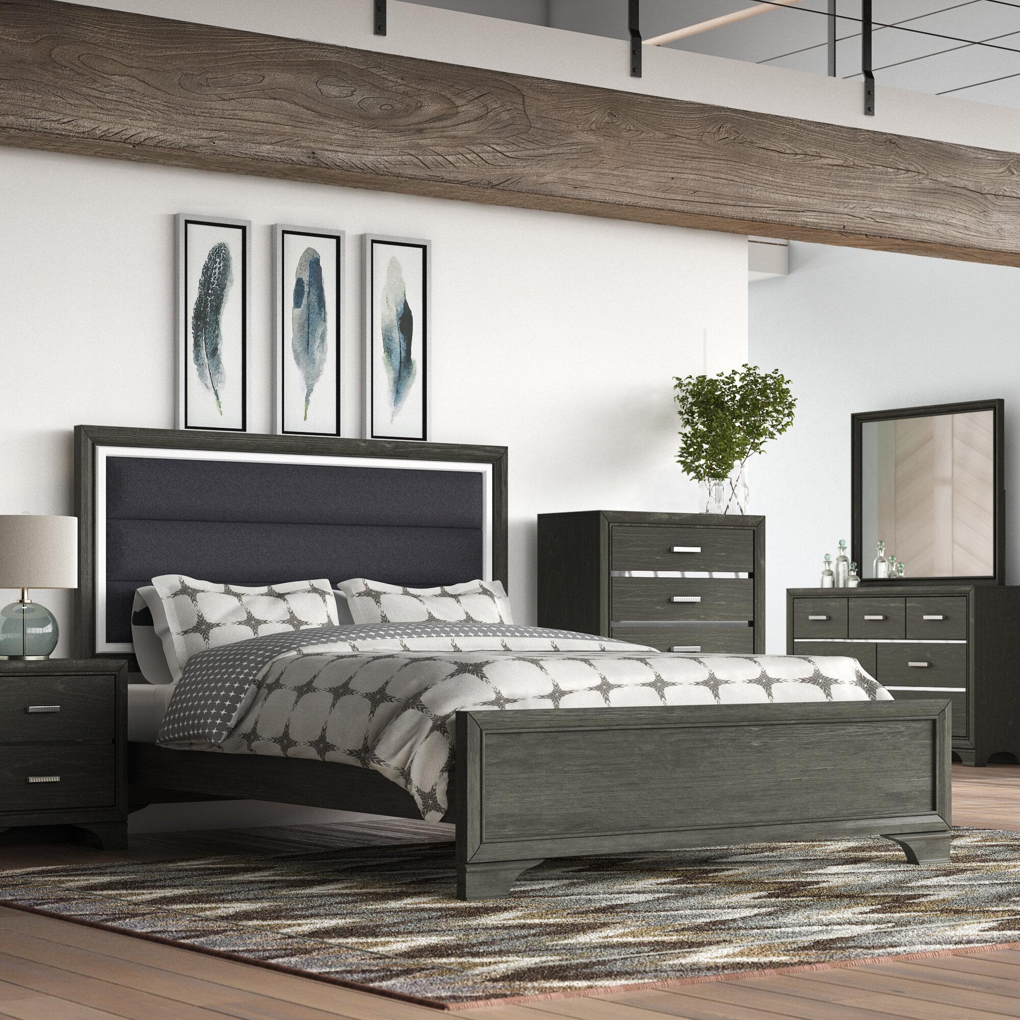 Brayden Studio Jarosz Queen Standard 6 Piece Bedroom Set | Wayfair
