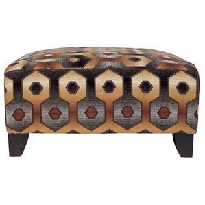 Reese Geometric Ottoman by Porter International Designs
