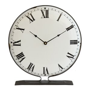 collected notion metal tabletop clock