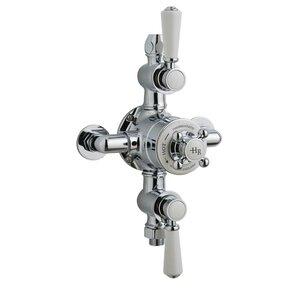 Dreigriff-Thermostat-Duscharmatur Unterputz Topaz von Ultra