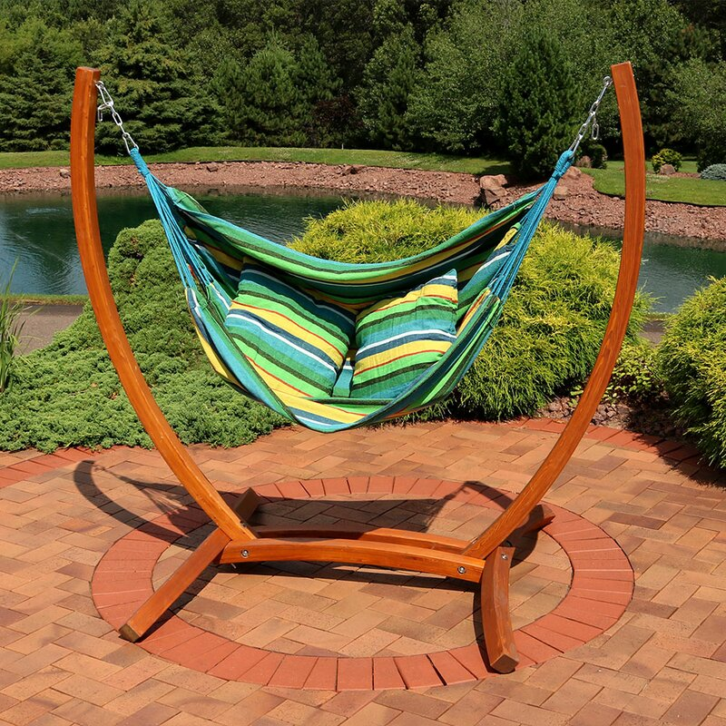 Bon Barrett Hanging Hammock Chair Porch Swing With Stand