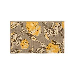 Jaya Hydrangea Yellow/Beige Indoor/Outdoor Area Rug