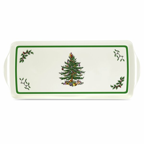 Melamine Christmas Platters.Christmas Tree Melamine Sandwich Platter