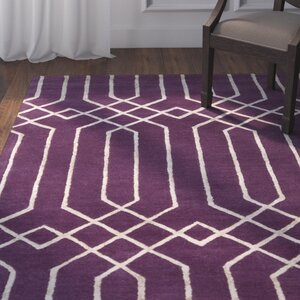 Rainsburg Hand-Tufted Purple Area Rug