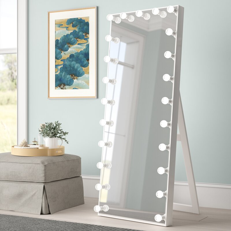Vanity Mirror With Lights.Laleia Lighted Full Length Mirror
