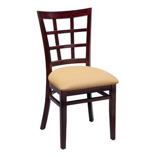 Beechwood Lattice Back Standard Seat Upholstered Dining Chair