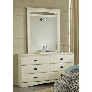 Durand 6 Drawer Double Dresser with Mirror by Lang Furniture