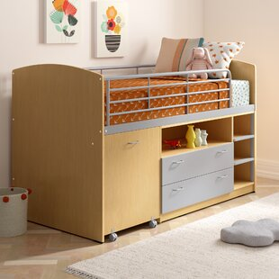 Single Mid Sleeper Bed with Storage By Viv + Rae