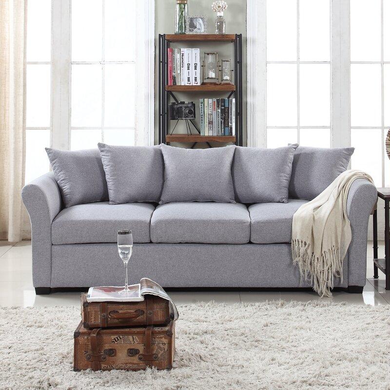 Charming ... Default Name Red Barrel Studio Harland Linen Sofa Reviews Wayfair ...