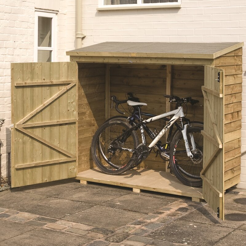 lynton garden buckthorn 6 x 3 wooden bike shed reviews. Black Bedroom Furniture Sets. Home Design Ideas