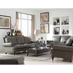 Ewing Leather Configurable Living Room Set Part 89