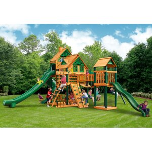 Treasure Trove II Treehouse Swing Set