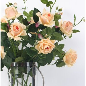 Luxury Real Touch 2 Bloom Rose Stem