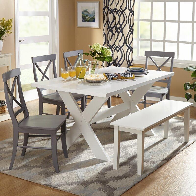 Beachcrest home medulla 6 piece dining set reviews wayfair for Meja kitchen set