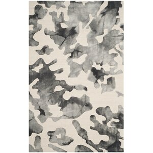 Chancey Dip Dyed Beige & Charcoal Area Rug