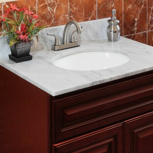 sink top for vanity. Cara White 43  Single Bathroom Vanity Top Tops You ll Love Wayfair