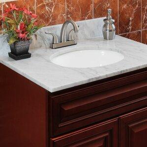 Cara White 43 Single Bathroom Vanity Top