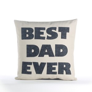 fathers day best dad ever decorative throw pillow