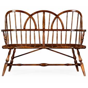 Astounding Jonathan Charles Fine Furniture Regency Upholstered Bench Creativecarmelina Interior Chair Design Creativecarmelinacom