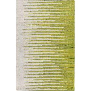 Vaughn Ivory/Lemon Striped Area Rug