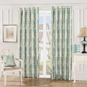 Damask Embossed Single Curtain Panel