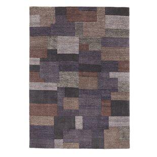Skandar Handwoven Wool Grey/Brown Rug by Longweave