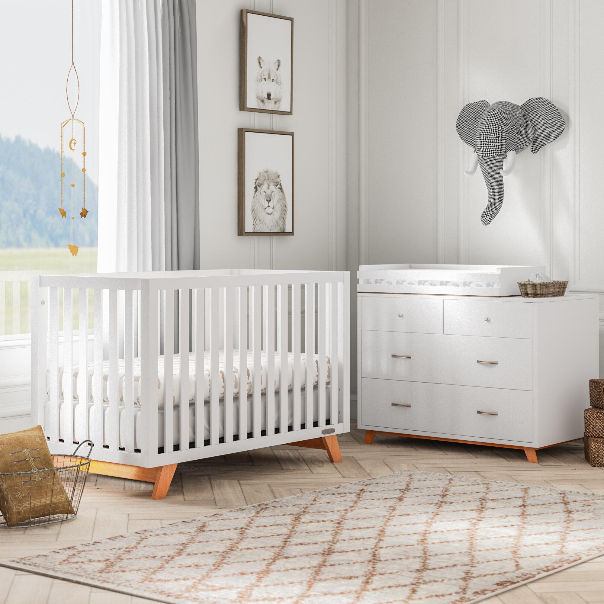 Kaiser Point 4 In 1 Convertible 2 Piece Nursery Furniture Set