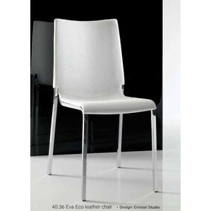 Eva Genuine Leather Upholstered Dining Chair by Bontempi Casa