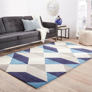 Benson Gray/Blue Geometric Area Rug
