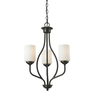Cardinal 3-Light Shaded Chandelier