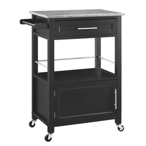 Dunigan Kitchen Cart with Granite Top by Andover Mills