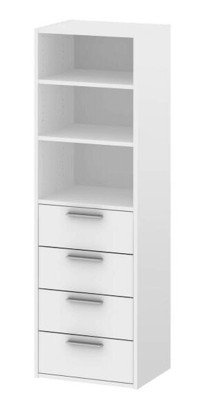 Rebrilliant georgetown 20w 4 drawer closet system wayfair