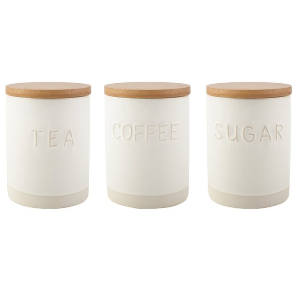 Tea Sugar Coffee Canisters Wayfair Co Uk