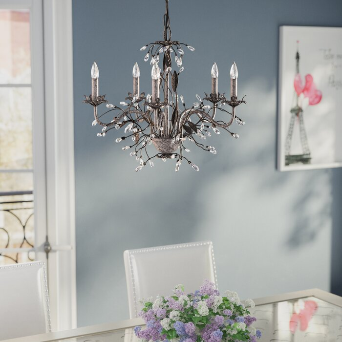 5 Light Candle-Style Chandelier & House of Hampton 5 Light Candle-Style Chandelier u0026 Reviews | Wayfair azcodes.com