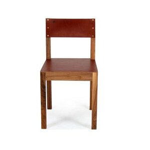 Montana Genuine Leather Upholstered Dining Chair by Organic Modernism