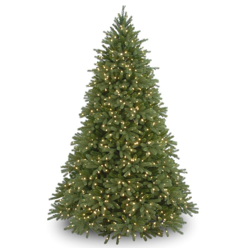 7 5 Green Fir Artificial Christmas Tree With 1250 Clear Lights