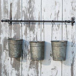 Metal Hanging Bucket Wall Planter