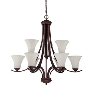 Sterling 9-Light Shaded Chandelier